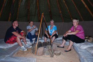Indėnų palapinėje, Pasvalio kraštas