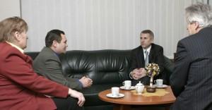 Vygaudas Ušackas Valstiečių laikraščio redakcijoje. 2007 m. , Vilnius