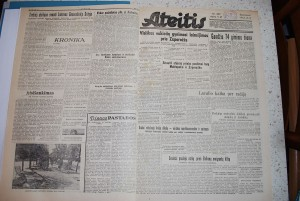 1943 m. karo metų laikraštis Ateitis