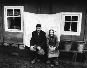 Helena ir Steponas Jacevičiai, Dienavagių kaimas, 1982 m.