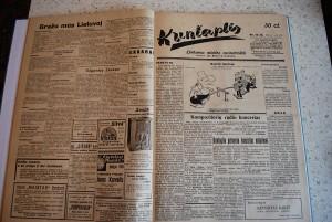 1936 m. satyrinis laikraštis Kuntaplis