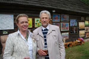 Maestro Virgilijus Noreika su žmona Loreta Bartusevičiūte. 2011 m. rugsėjis. Marcinkonys, Varėnos rajonas