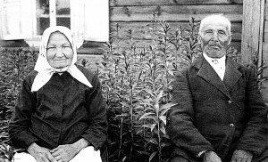 Knygnešys Martynas Milius su žmona Skalastika 1937 metais