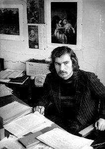 1980-ieji. Komjaunimo tiesos redakcija, šio rašinio autorius savo kabinete