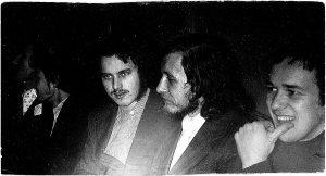 1979-ieji. Iš dešinės – Vilniaus universiteto literatai Vidas Valaitis, Valdas Kukulas, Gintaras Radvila, Stasys Stacevičius