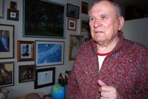 Romas Sadauskas savo bute sostinės Senamiestyje