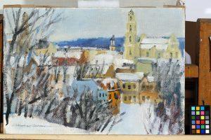 Iš dailininko A. Vozbino kūrybos - Vilnius nuo Subačiaus gatvės
