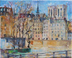 Paryžiaus motyvas / / Iš dailininko A. Vozbino kūrybos
